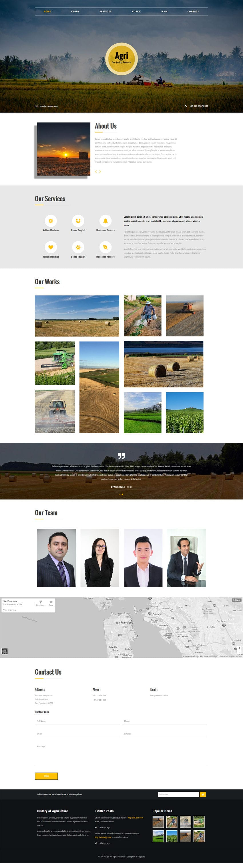 Agri an Agriculture Category Flat Bootstrap Responsive Web