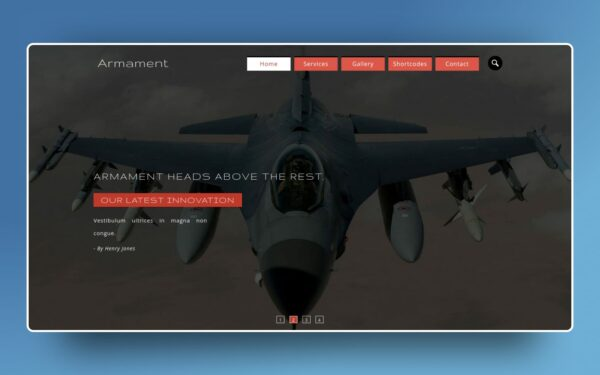 armament website template