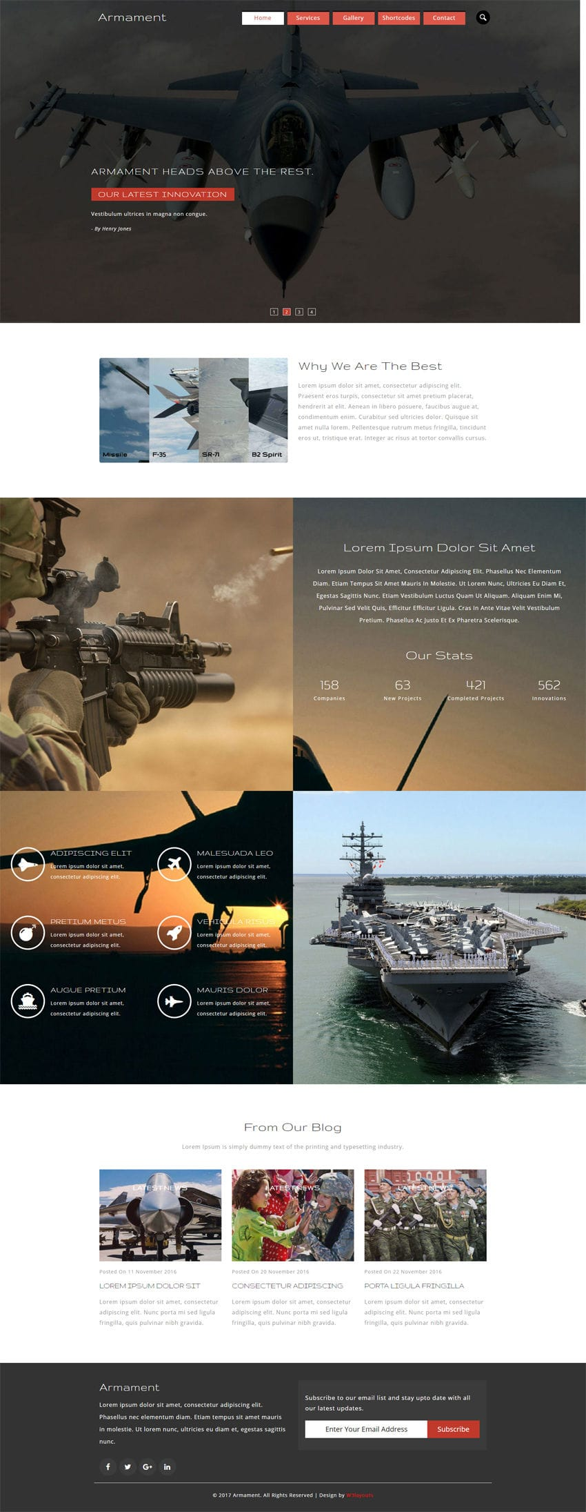 Armament an Industrial Category Flat Bootstrap Responsive