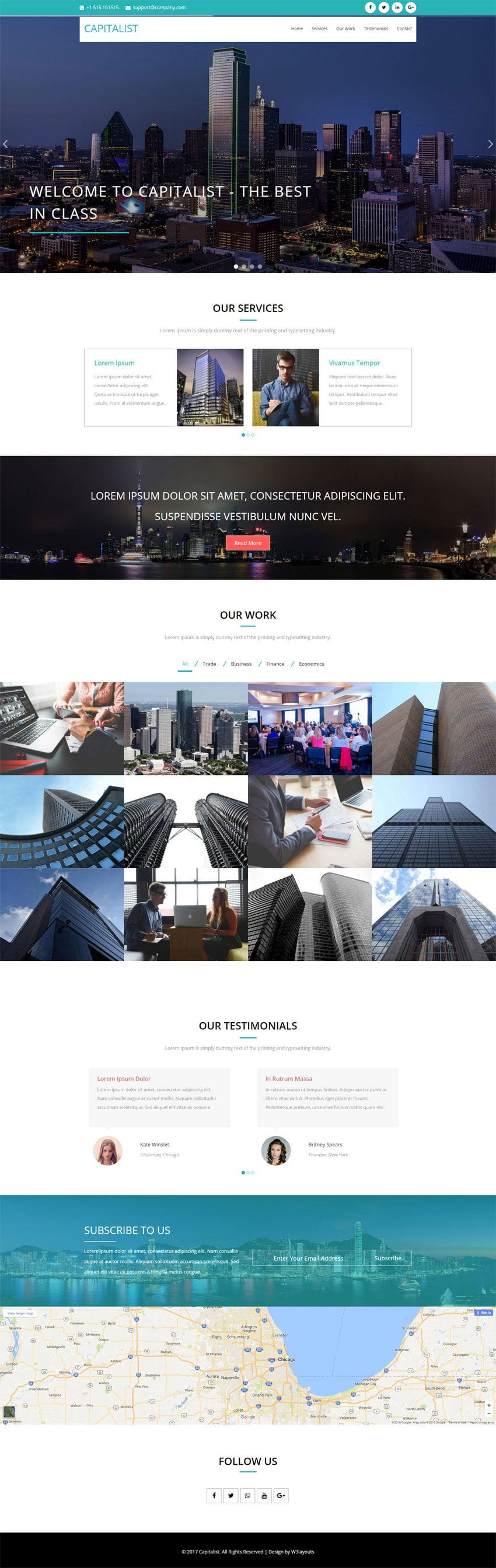 Capitalist a Corporate Category Flat Bootstrap Responsive