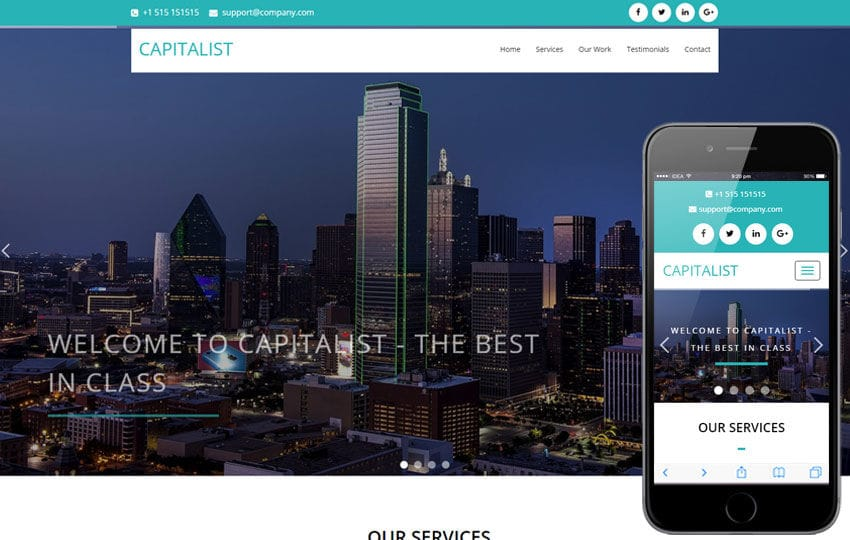 Capitalist a Corporate Category Flat Bootstrap Responsive Web Template