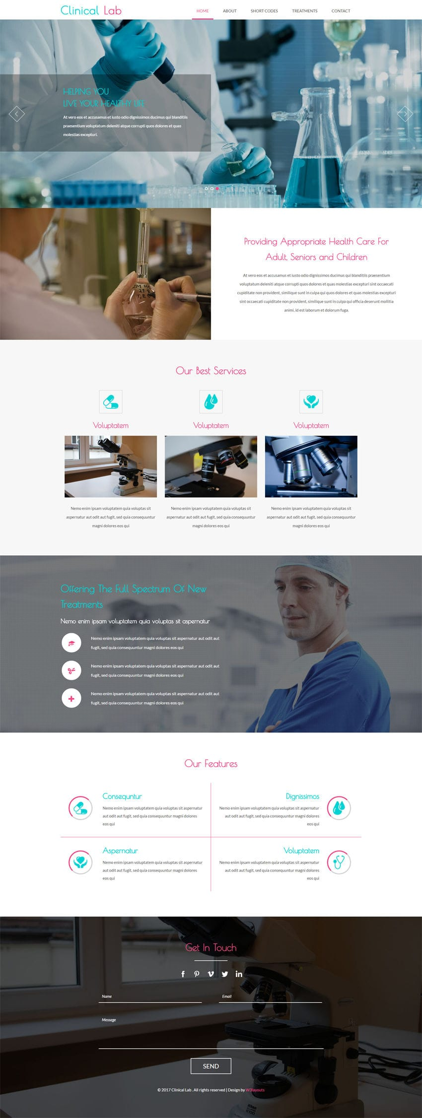 Clinical Lab a Medical Category Flat Bootstrap Responsive