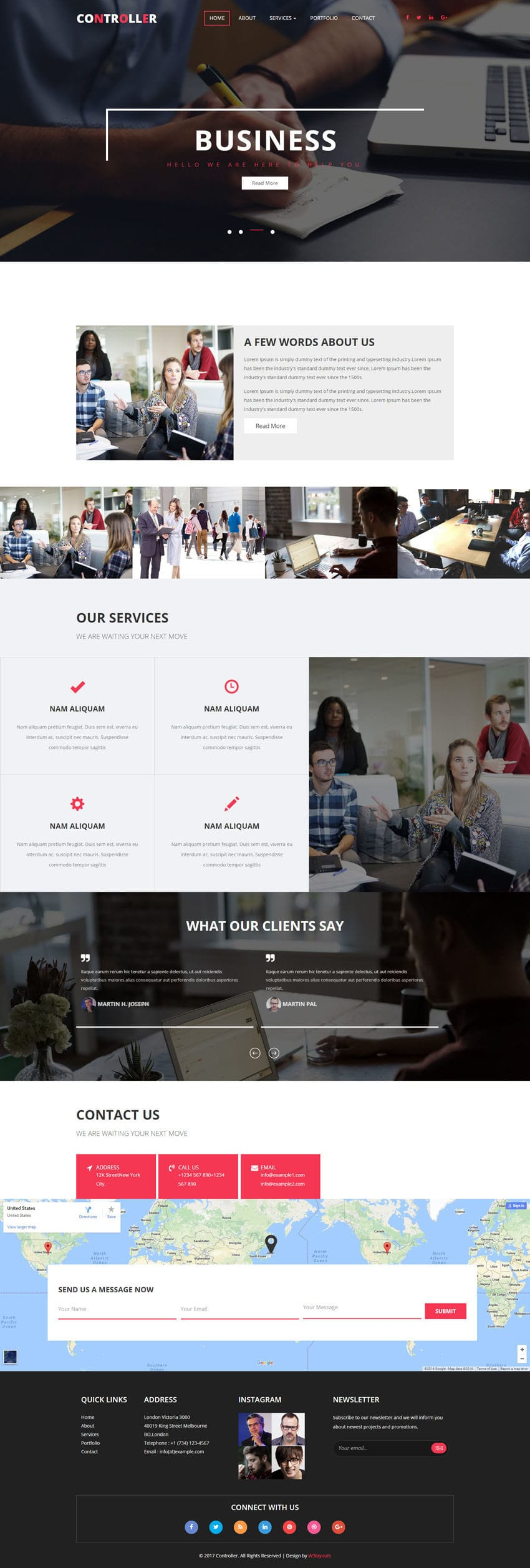 Controller a Corporate Category Flat Bootstrap Responsive