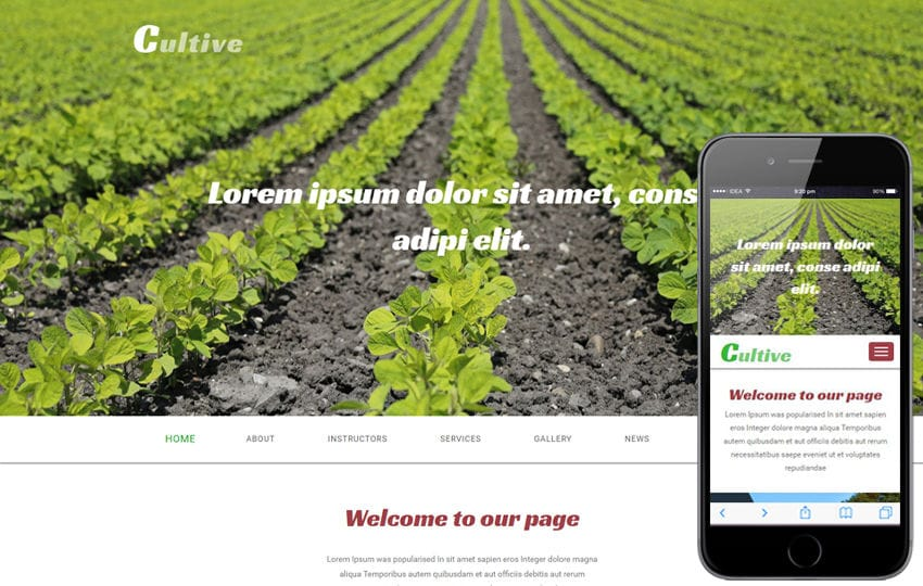 Cultive an Agriculture Category Flat Bootstrap Responsive Web Template