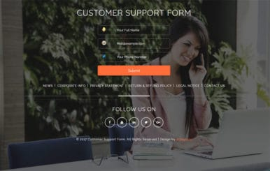 Customer Support Form Flat Responsive widget Template