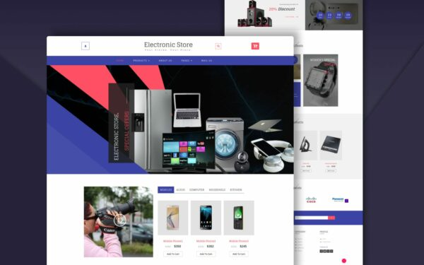 electronic-store-website-templates