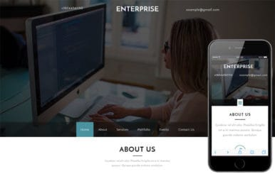 Enterprise a Corporate Category Flat Bootstrap Responsive Web Template