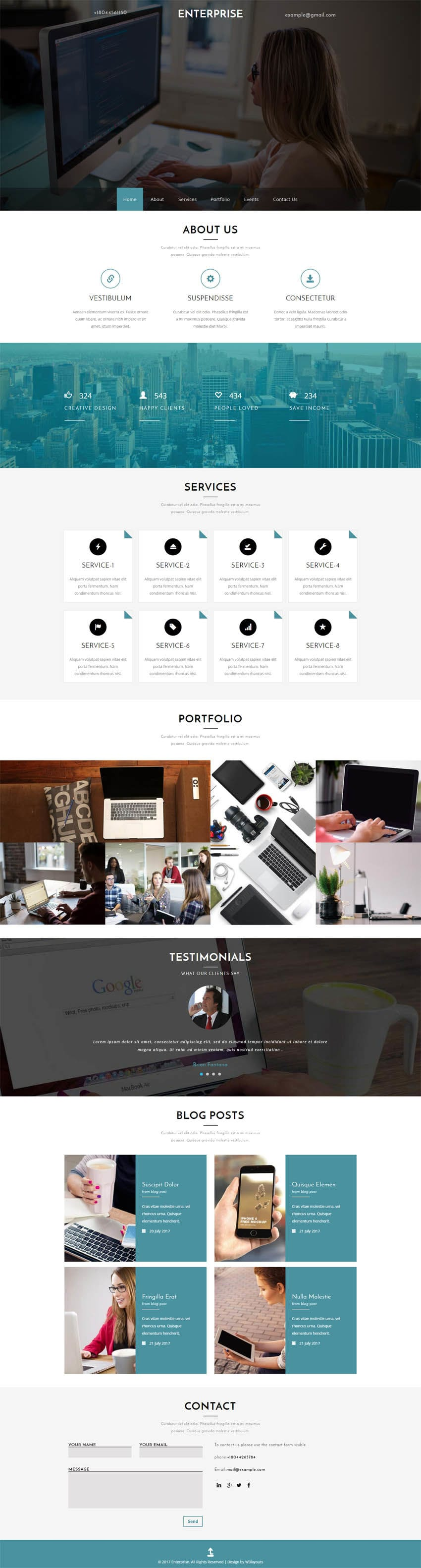 Enterprise a Corporate Category Flat Bootstrap Responsive