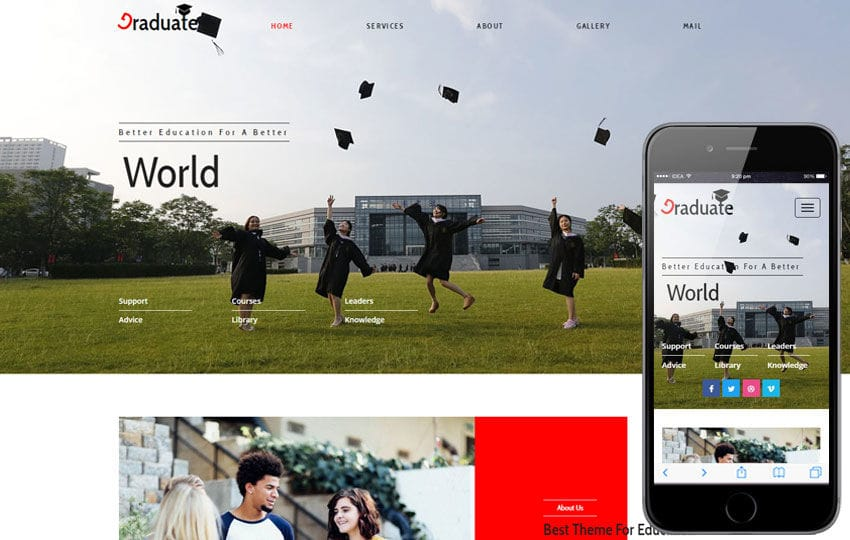 Graduate an Education Category Flat Bootstrap Responsive Web Template