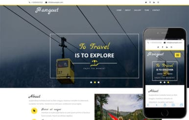 Hangout a Travel Category Flat Bootstrap Responsive Web Template
