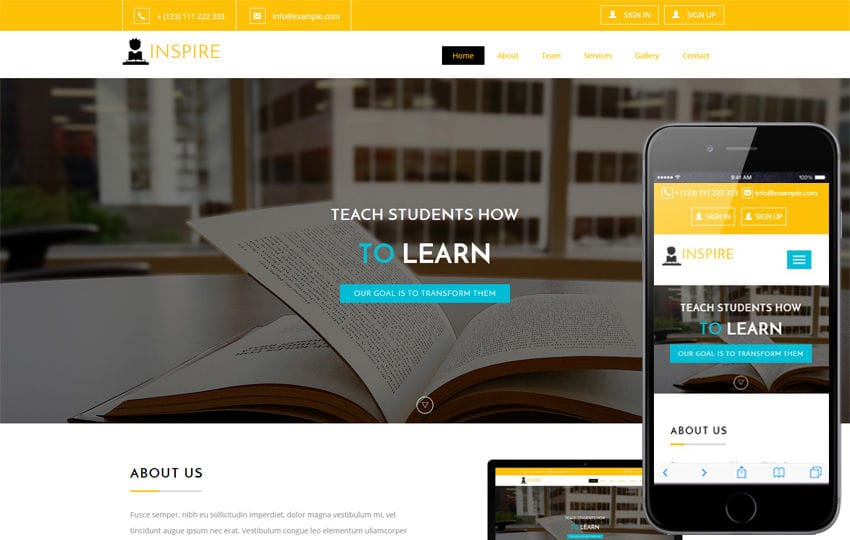 Inspire an Education Category Flat Bootstrap Responsive Web Template