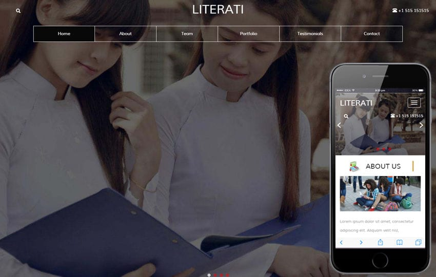 Literati an Education Category Flat Bootstrap Responsive Web Template