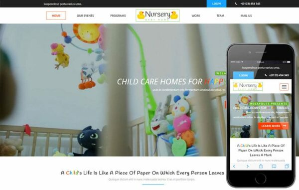 Nursery a Society and People Category Flat Bootstrap Responsive Web Template