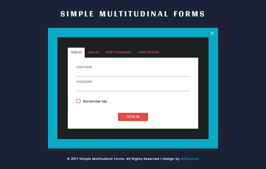 Simple Multitudinal Forms a Flat Responsive Widget Template