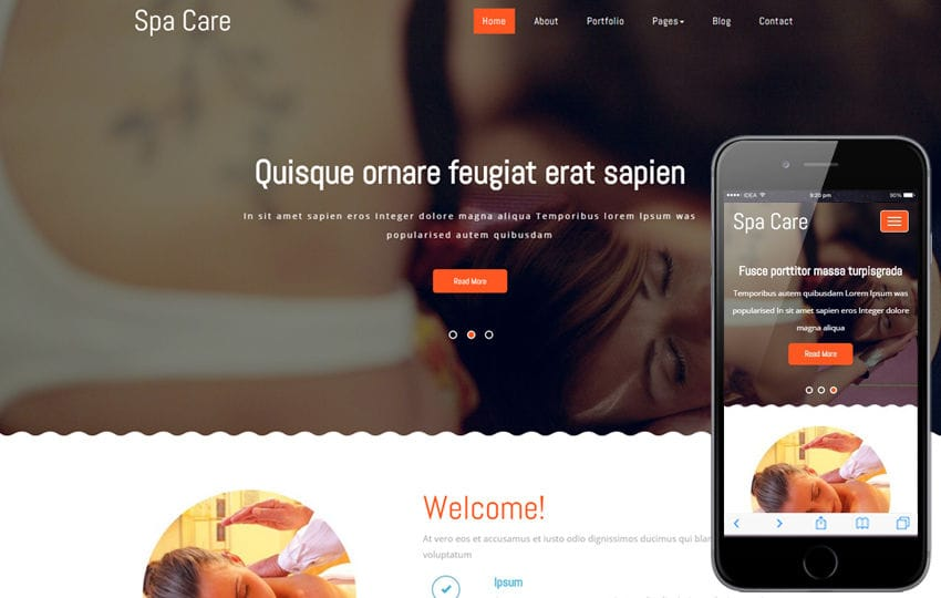 Spa Care a Beauty and Spa Category Flat Bootstrap Responsive Web Template