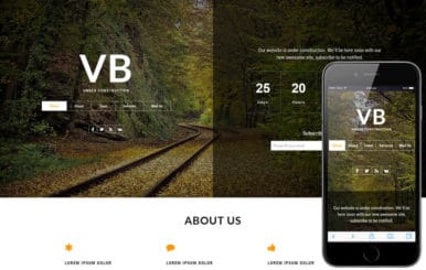 VB Under Construction a Flat Bootstrap Responsive Web Template
