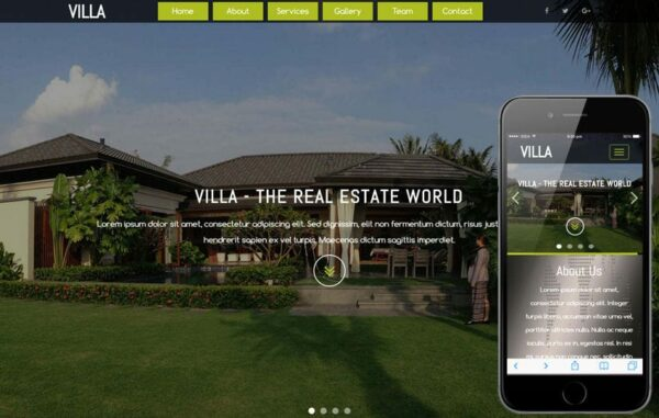 Villa a Real Estates and Builders Category Flat Bootstrap Responsive web Template