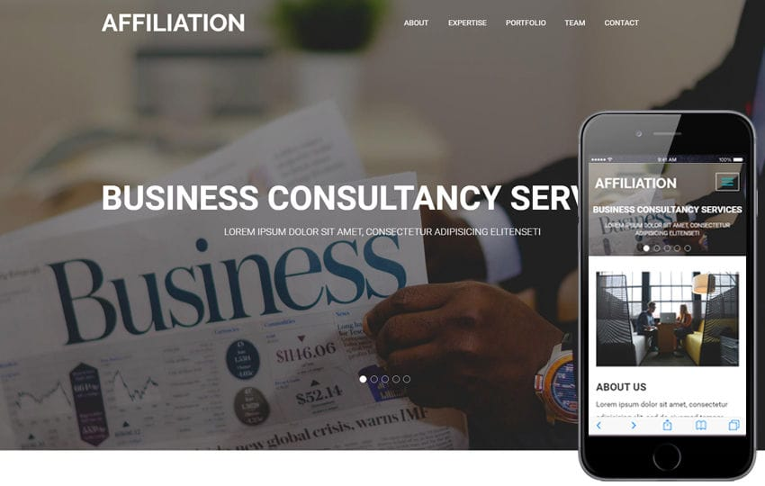 Affiliation a Corporate Business Flat Bootstrap Responsive Web Template