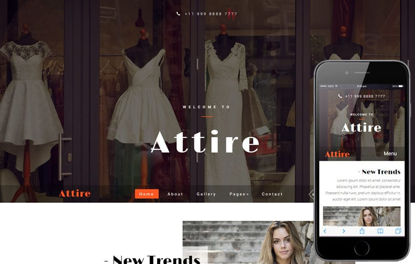 Attire a Fashion Category Bootstrap Responsive Web Template
