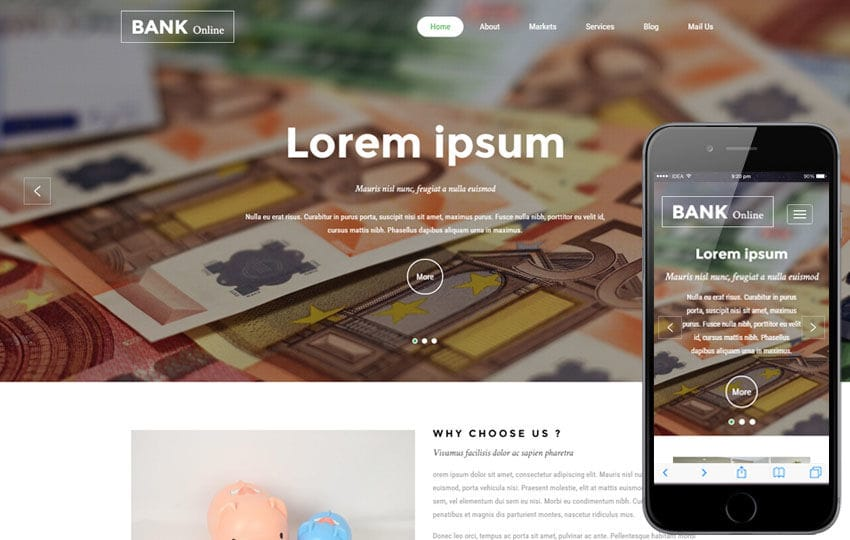 Bank Online a Banking Category Bootstrap Responsive Web Template