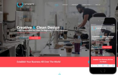 Certainty a Corporate Business Category Flat Bootstrap Responsive Web Template