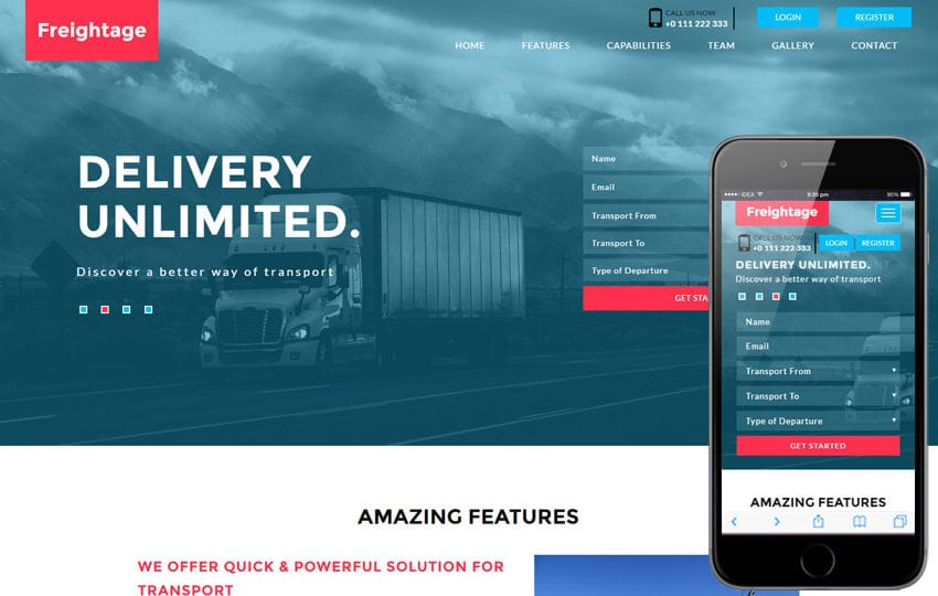 Freightage a Transportation Flat Bootstrap Responsive Web Template