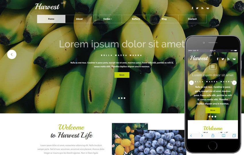Harvest Life an Agriculture Category Bootstrap Responsive Web Template