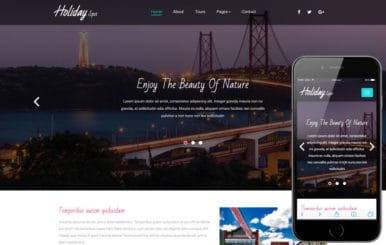 Holiday Spot a Travel Category Bootstrap Responsive Web Template