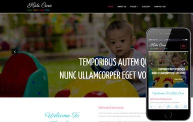 Kids Care a Society and People Category Bootstrap Responsive Web Template