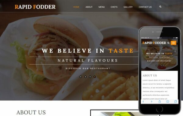 Rapid Fodder a Hotels and Restaurants Category Flat Bootstrap Responsive Web Template