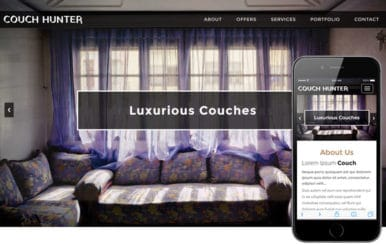 Couch Hunter an Interior and Furniture Bootstrap Responsive Web Template