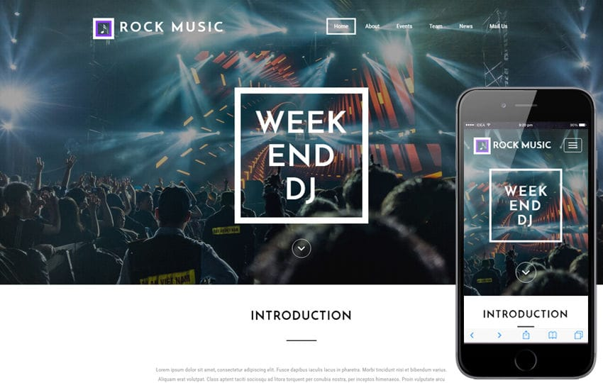 Rock Music an entertainment Flat Bootstrap Responsive Web Template