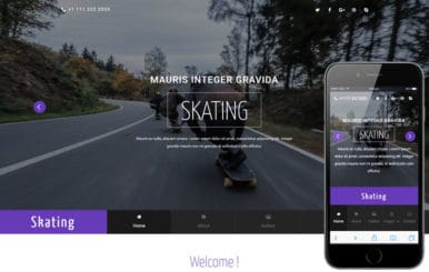 Skating a Sports Category Flat Bootstrap Responsive Web Template
