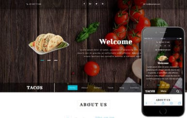 Tacos a Hotels and Restaurants Bootstrap Responsive Web Template