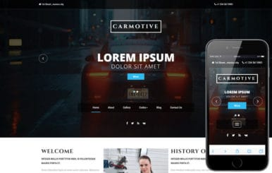 Carmotive an Industrial Category Bootstrap Responsive Web Template