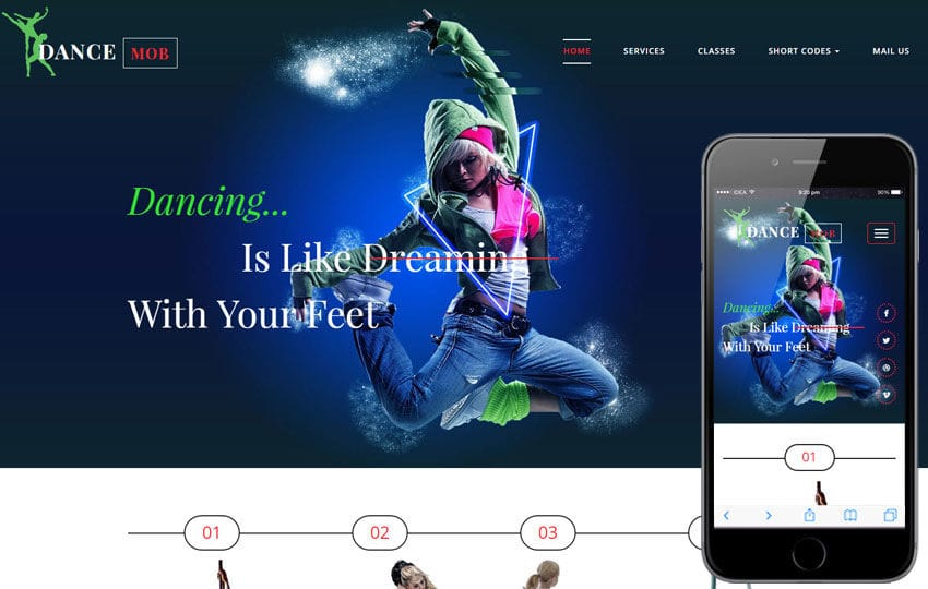 Dance Mob an Entertainment Flat Bootstrap Responsive Web Template