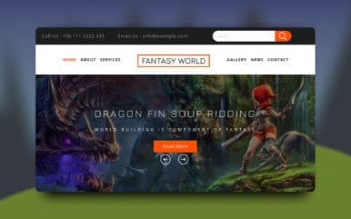 Fantasy World a Games Flat Bootstrap Responsive Web Template