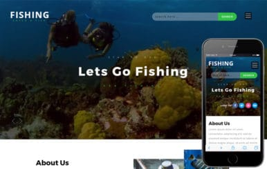 Fishing an Animals Category Bootstrap Responsive Web Template