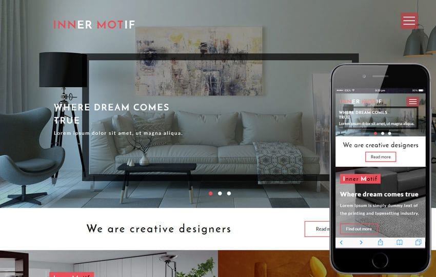 Inner Motif an Interior Category Flat Bootstrap Responsive Web Template
