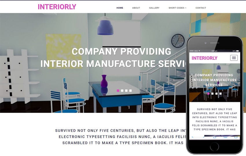 Interiorly an Interior Flat Bootstrap Responsive Web Template