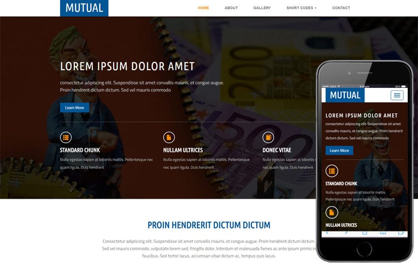 Mutual a Corporate and Business Flat Responsive Web Template