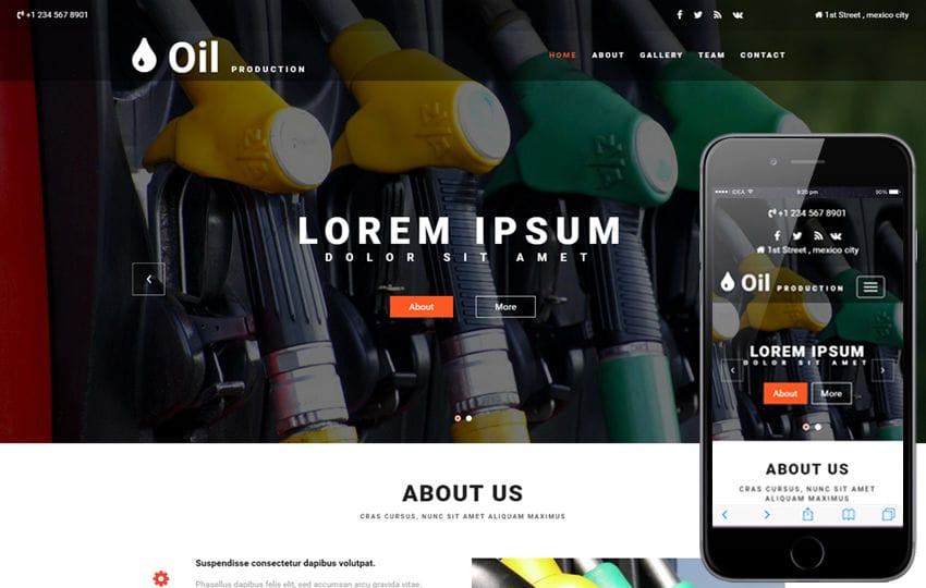 Oil Production an Industrial  Bootstrap Responsive Web Template