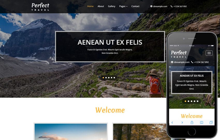 Perfect Travel a Travel Category Bootstrap Responsive Web Template