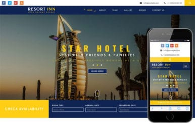 Resort Inn a Hotel Category Flat Bootstrap Responsive Web Template