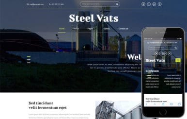 Steel Vats an Industrial Category Bootstrap Responsive Web Template