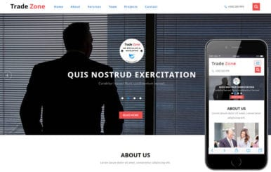 Trade Zone a Corporate Category Bootstrap Responsive Web Template
