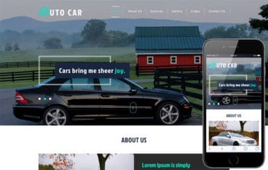 Auto Car – Automobile Category Bootstrap Responsive Web Template