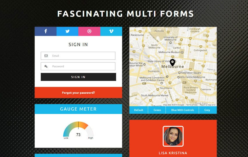 Fascinating Multi Forms Flat Responsive Widget Template