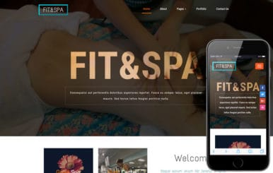 Fit and Spa a Beauty Category Bootstrap Responsive Web Template