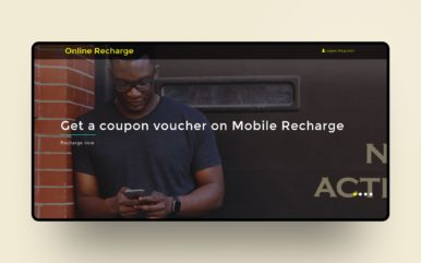 online recharge website template